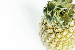 Pineapple fruit. On white top view Royalty Free Stock Photography