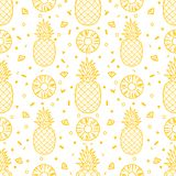 Pineapple fruits seamless pattern background vector format Royalty Free Stock Images