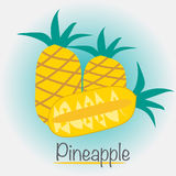 Pineapple Fruits Vector Illustration. Vector EPS of Pineapple Fruits Royalty Free Stock Images