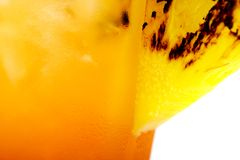 Pineapple Garnish on a tropical drink Royalty Free Stock Image