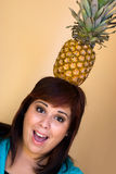 Pineapple Girl Royalty Free Stock Photography
