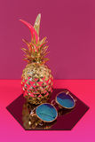 Pineapple and Glasses Royalty Free Stock Photography