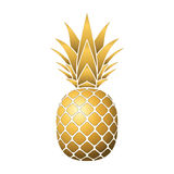 Pineapple gold icon