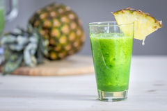 Pineapple Green Smoothie. With Peppermint Royalty Free Stock Image