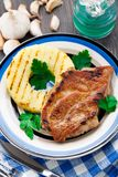Pineapple grilled pork chop Royalty Free Stock Image