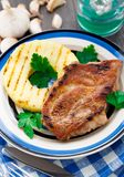Pineapple grilled pork chop Stock Photography