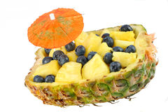 Pineapple Half Filled With Fruit Royalty Free Stock Photo