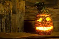 Pineapple Halloween Royalty Free Stock Photography