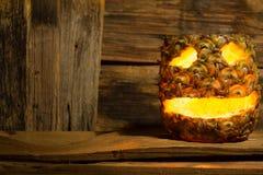 Pineapple Halloween Stock Photo