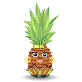 Pineapple Happy Face Royalty Free Stock Photo