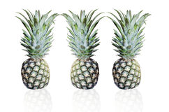 3 pineapple. Pineapple, healthy food with isolated background Stock Photos