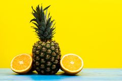 Pineapple healthy nutrition lifestyle Stock Image