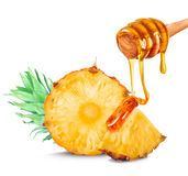 Pineapple and honey Stock Photography