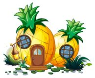 Pineapple house in garden Stock Images