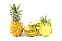Pineapple. On hte white background Stock Image