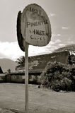 Pineapple Hut, Old Hawaii Stock Photography
