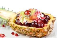 Pineapple ice-cream coctail Stock Image