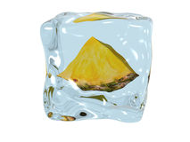 Pineapple in ice Stock Photos