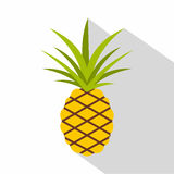 Pineapple icon, flat style Royalty Free Stock Images