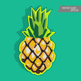 Pineapple icon. Pineapple vector label. Stock Images