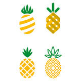 Pineapple icons. A set of different pineapple icons Stock Image