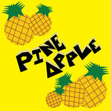 Pineapple Illustration Wallpaper. Pineapple cartoon wallpaper  illustration icons Royalty Free Stock Images