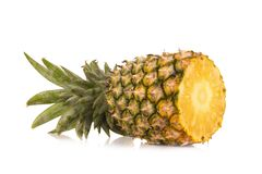 Pineapple isolated no white Background.  Royalty Free Stock Image