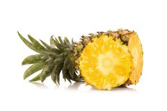 Pineapple isolated no white Background.  Royalty Free Stock Photos