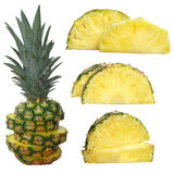 Pineapple isolated on white with a clipping path Royalty Free Stock Photos