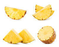 Pineapple isolated on white stock images