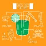 Pineapple jalapeno,green juice recipes great detoxifier Stock Photography