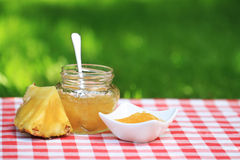 Pineapple jam Stock Photos