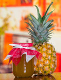 A pineapple jam made from a fresh and delicious pineapple, nice fruit Stock Photos