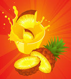 Pineapple juice vector illustration
