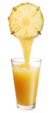 Pineapple juice. Royalty Free Stock Images