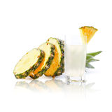 Pineapple and juice Stock Images