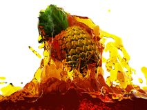 Pineapple in juice Royalty Free Stock Images