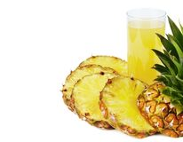 Pineapple juice Royalty Free Stock Photos