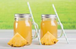 Pineapple juice Stock Photography