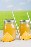 Pineapple juice Stock Photo