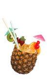 Pineapple juice drink. Pineapple cocktail, path included royalty free stock images