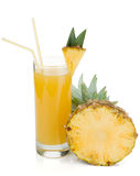 Pineapple juice in a glass Royalty Free Stock Photography