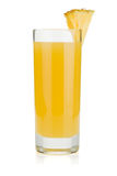 Pineapple juice in a glass Royalty Free Stock Photos
