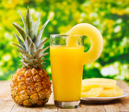 Pineapple juice Royalty Free Stock Photo