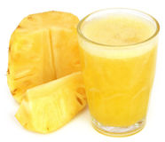 Pineapple juice in a glass Royalty Free Stock Photo