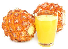 Pineapple with juice Royalty Free Stock Photo