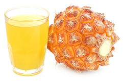 Pineapple with juice Royalty Free Stock Photos