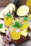 Pineapple juice Royalty Free Stock Photos