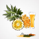 Pineapple juice Royalty Free Stock Images