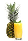 Pineapple and juice Royalty Free Stock Photos